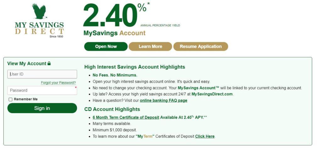 MySavingsDirect Online Savings Account - Review » Bank Professor
