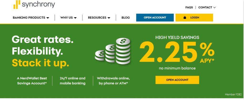 Synchrony online savings account