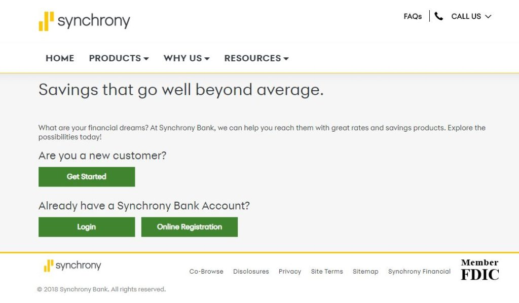 Synchrony online savings account