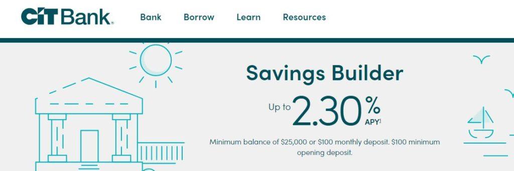 CIT Bank Savings Builder APY July 2019