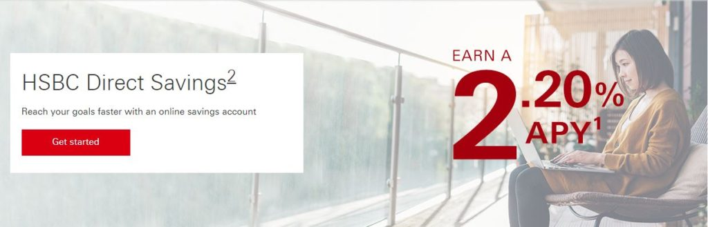 HSBC Direct Savings 2.20% APY August 2019